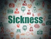 Έννοια ιατρικής: Ασθένεια στο υπόβαθρο εγγράφου ψηφιακών στοιχείων ελεύθερη απεικόνιση δικαιώματος
