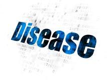 Έννοια ιατρικής: Ασθένεια στο ψηφιακό υπόβαθρο ελεύθερη απεικόνιση δικαιώματος