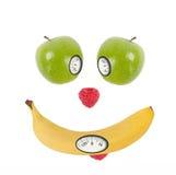 Έννοια διατροφής με την κλίμακα βάρους Στοκ Εικόνα