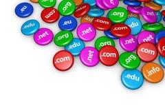 Έννοια Διαδικτύου ονόματος περιοχών Στοκ Εικόνα