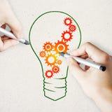 Έννοια ιδέας και ομαδικής εργασίας στοκ φωτογραφίες