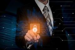 Έννοια ιδιωτικότητας επιχειρησιακής τεχνολογίας προστασίας δεδομένων ασφάλειας Cyber στοκ φωτογραφία με δικαίωμα ελεύθερης χρήσης