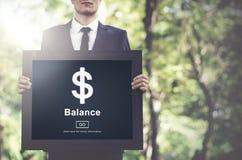 Έννοια διεπαφών σημαδιών δολαρίων ανάλυσης ισορροπίας Στοκ φωτογραφία με δικαίωμα ελεύθερης χρήσης