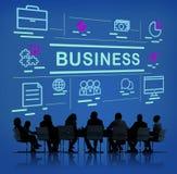 Έννοια διοικητικού μάρκετινγκ στρατηγικής επιχειρησιακής ομάδας Στοκ Εικόνες