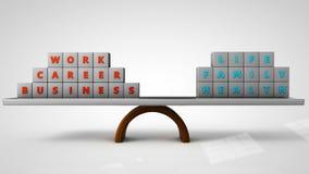 Έννοια ισορροπίας ζωής εργασίας Στοκ φωτογραφία με δικαίωμα ελεύθερης χρήσης