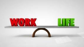 Έννοια ισορροπίας ζωής εργασίας Στοκ Εικόνες
