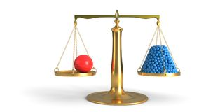 Έννοια ισορροπίας προϊσταμένων και υπαλλήλων, τρισδιάστατη απόδοση στοκ φωτογραφίες με δικαίωμα ελεύθερης χρήσης