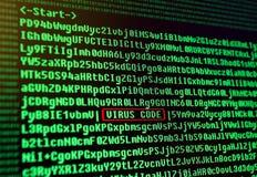 Έννοια ιών υπολογιστών. Στοκ φωτογραφία με δικαίωμα ελεύθερης χρήσης