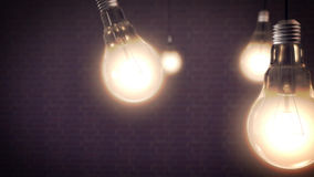 Έννοια ιδέας με τις λάμπες φωτός Στοκ Εικόνες