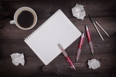 Έννοια ιδέας με το σημειωματάριο Στοκ Εικόνες