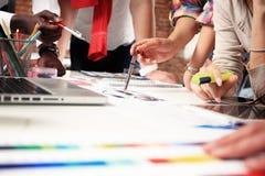 Έννοια ιδεών σχεδίου συνεδρίασης των επιχειρηματιών Επιχειρησιακός προγραμματισμός Στοκ Εικόνα