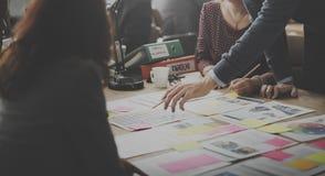 Έννοια ιδεών σχεδίου συνεδρίασης των επιχειρηματιών Στοκ Φωτογραφία