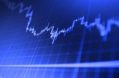 Έννοια και υπόβαθρο χρηματιστηρίου Ανάλυση των στοιχείων χρηματιστηρίου όσον αφορά ένα όργανο ελέγχου Ρολόι τιμών Bitcoin Στοκ Εικόνες