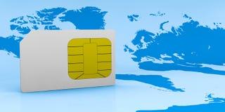 έννοια καρτών sim Στοκ Εικόνες
