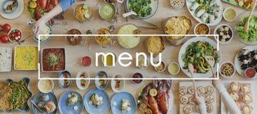 Έννοια καταλόγων επιλογής εστιατορίων επιλογής επιλογής επιλογών Στοκ Εικόνες