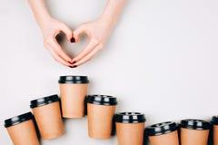 Έννοια καφέ αγάπης Στοκ φωτογραφία με δικαίωμα ελεύθερης χρήσης