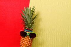 Έννοια καλοκαιριού και διακοπών Εξαρτήματα μόδας ανανά Hipster Στοκ Φωτογραφίες