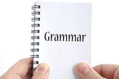 Έννοια κειμένων γραμματικής Στοκ φωτογραφία με δικαίωμα ελεύθερης χρήσης