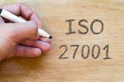 Έννοια κειμένων του ISO 27001 Στοκ φωτογραφία με δικαίωμα ελεύθερης χρήσης