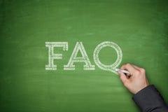Έννοια κειμένων FAQ Στοκ Φωτογραφία