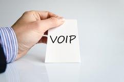 Έννοια κειμένων Voip Στοκ φωτογραφία με δικαίωμα ελεύθερης χρήσης