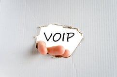 Έννοια κειμένων Voip Στοκ φωτογραφίες με δικαίωμα ελεύθερης χρήσης