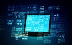 Έννοια 01 κεντρικών υπολογιστών Διαδικτύου Στοκ Εικόνες