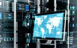 Έννοια κεντρικών υπολογιστών Διαδικτύου Στοκ εικόνες με δικαίωμα ελεύθερης χρήσης