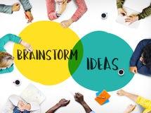 Έννοια κινήτρου ηγεσίας ιδεών προγραμματισμού καταιγισμού ιδεών στοκ φωτογραφία