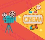 Έννοια κινηματογράφων, διάνυσμα Στοκ Εικόνες