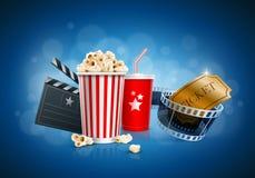 Έννοια κινηματογράφων Στοκ εικόνα με δικαίωμα ελεύθερης χρήσης