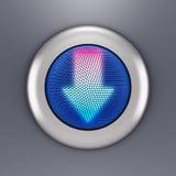 έννοια κουμπιών βελών Στοκ Φωτογραφία
