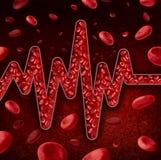Έννοια κυττάρων αίματος διανυσματική απεικόνιση