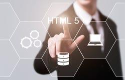 Έννοια κωδικοποίησης ανάπτυξης Ιστού γλώσσας προγραμματισμού HTML Στοκ φωτογραφίες με δικαίωμα ελεύθερης χρήσης