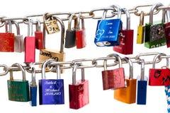 Έννοια κλειδαριών αγάπης Στοκ φωτογραφία με δικαίωμα ελεύθερης χρήσης