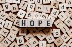 Έννοια λέξης ελπίδας στοκ φωτογραφία