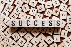 Έννοια λέξης επιτυχίας στοκ φωτογραφίες