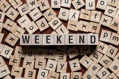 Έννοια λέξης Σαββατοκύριακου στοκ φωτογραφίες με δικαίωμα ελεύθερης χρήσης