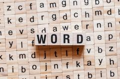 Έννοια λέξης λέξης στοκ εικόνες με δικαίωμα ελεύθερης χρήσης