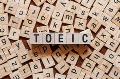 Έννοια λέξης Toeic στοκ φωτογραφία με δικαίωμα ελεύθερης χρήσης