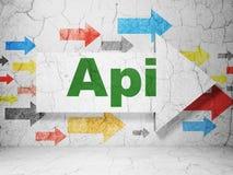 Έννοια λογισμικού: βέλος με το API στο υπόβαθρο τοίχων grunge Στοκ φωτογραφίες με δικαίωμα ελεύθερης χρήσης