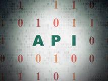 Έννοια λογισμικού: API στο υπόβαθρο εγγράφου ψηφιακών στοιχείων Στοκ φωτογραφία με δικαίωμα ελεύθερης χρήσης