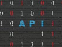 Έννοια λογισμικού: API στο υπόβαθρο τοίχων Στοκ εικόνες με δικαίωμα ελεύθερης χρήσης