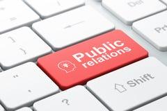 Έννοια μάρκετινγκ: Επικεφαλής Whis Lightbulb και δημόσιες σχέσεις στο γ στοκ εικόνα με δικαίωμα ελεύθερης χρήσης