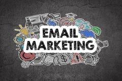 Έννοια μάρκετινγκ ηλεκτρονικού ταχυδρομείου Γραπτός τοίχος Grunge διανυσματική απεικόνιση