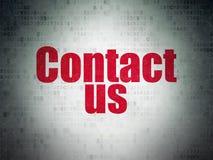 Έννοια μάρκετινγκ: Μας ελάτε σε επαφή με στο υπόβαθρο εγγράφου ψηφιακών στοιχείων στοκ φωτογραφία με δικαίωμα ελεύθερης χρήσης