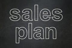 Έννοια μάρκετινγκ: Σχέδιο πωλήσεων για το υπόβαθρο πινάκων κιμωλίας Στοκ φωτογραφία με δικαίωμα ελεύθερης χρήσης