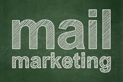 Έννοια μάρκετινγκ: Μάρκετινγκ ταχυδρομείου στο υπόβαθρο πινάκων κιμωλίας Στοκ Εικόνες