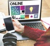 Έννοια μέσων WWW λογισμικού σχεδίου UI ιστοχώρου Στοκ Φωτογραφία