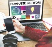 Έννοια μέσων WWW λογισμικού σχεδίου UI ιστοχώρου Στοκ Εικόνα